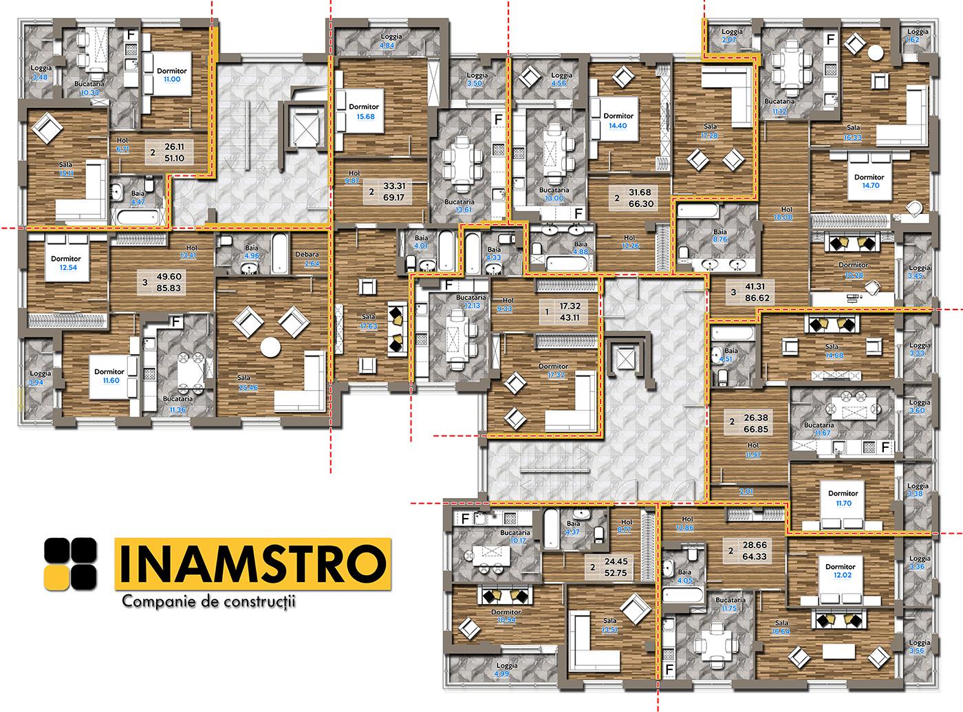 План этажа Gheorghe Ghimpu