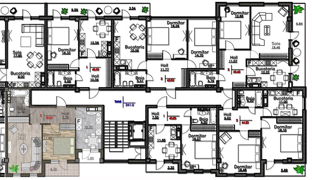 Floor plan Visarion Belinski 4